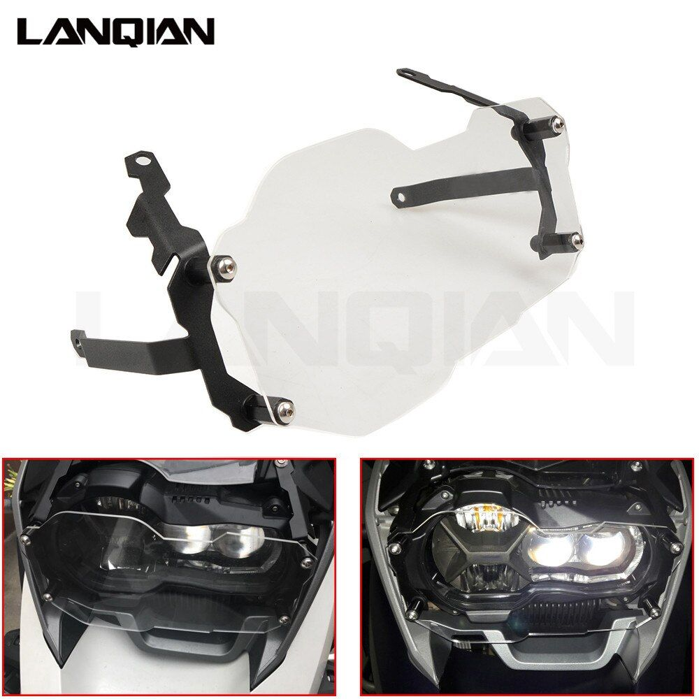For BMW R1200GS Headlight Protector Guard Lense Cover for BMW R 1200 GS Adventure 2013 - 2018 Water Cooled Models Transparent