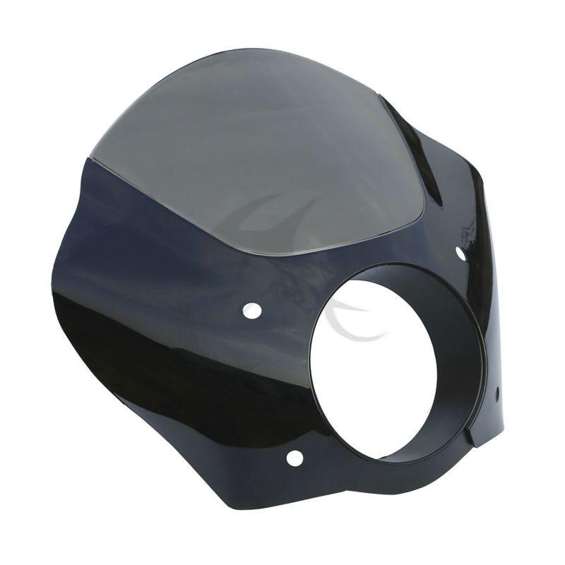 Black Smoke Gauntlet Headlight Fairing Mask For Harley Sportster XL 883 72 FXDL FXD FXDC Street XG 500 750 FXD FXDC