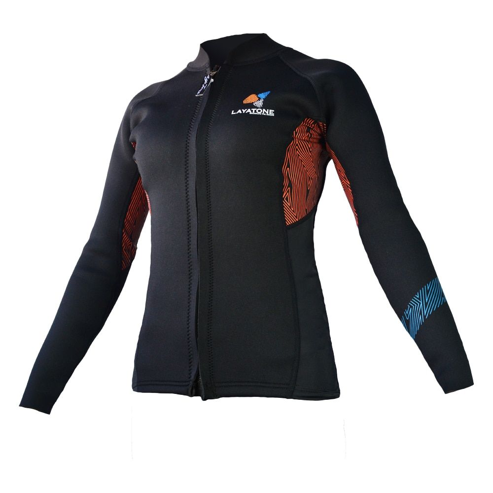 Surfing Wetsuit Swimwear Dive equipment Diving Snorkeling Swimming Long Sleeve Keep Warm 3mm Lycra wetsuit Women Jacket SWSJ1707