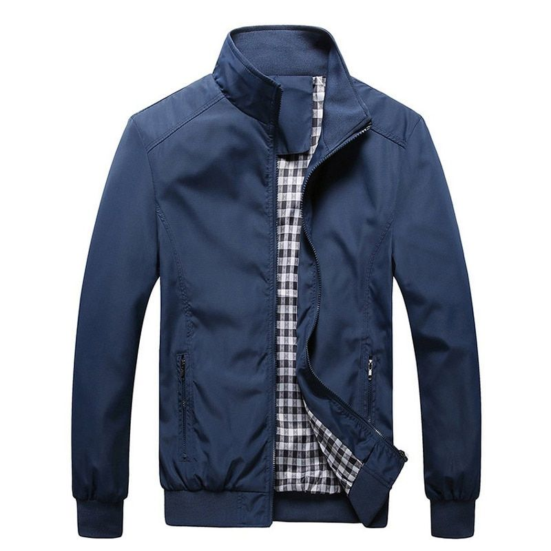 2017 Nueva Llegada del Resorte y otoño chaqueta de los hombres los hombres chaqueta abrigos cremallera Chaquetas de Marca de Alta Calidad delgada Masculina