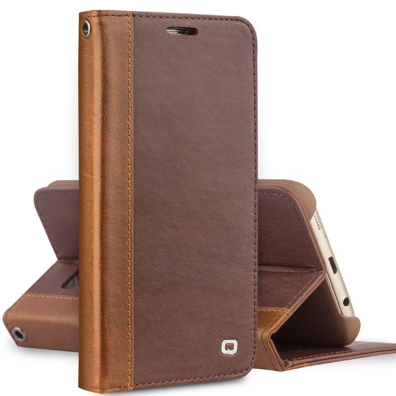 QIALINO Echtes Leder Fall für Samsung Galaxy S7 Mode Abdeckung für Samsung S7 rand Beste Business Flip Reine Handgemachte Fall 5,5