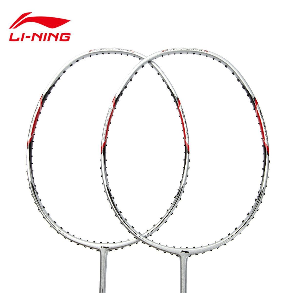 1 paar Futter Badminton Schläger Super Licht Volle Carbon Faser Ball Control Typ Li-Ning AYPG354 Mit Bespannen Service l784