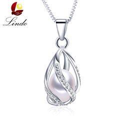 Классический Специальный дизайн 8-9 мм натуральный жемчужная подвеска клетка ожерелье с 45 см серебряная цепь 4 цвета Оптовая Продажа повседн...