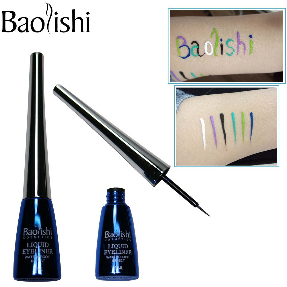 Baolishi 6 farbe langlebige Wasserdicht Flüssigen Eyeliner make-up pencil eye liner marke kosmetik eyeliner