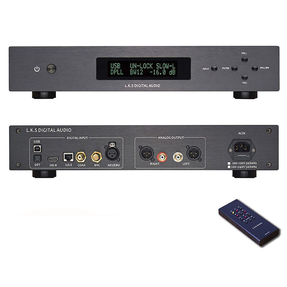 L.K.S Audio MH-DA004 Dual ES9038pro Flagship DAC DSD Input Coaxial BNC AES EBU for DoP USB I2S Optical Audio Decoder