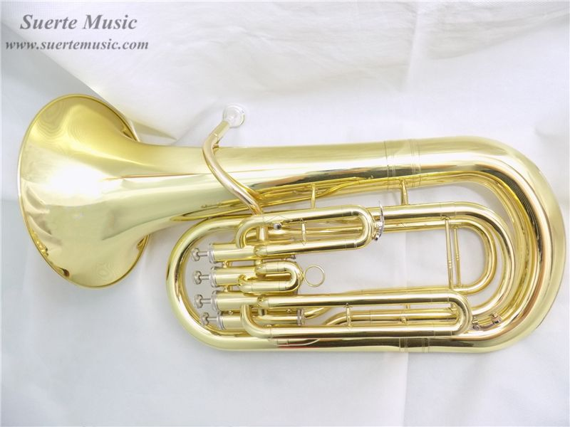 Yellow Brass Euphonium 4 Pistons Bb with Case and mouthpiece Musical instruments Wholesale