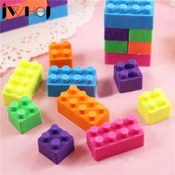 5 unids/lote bloques de construcción creativa borrador Kawaii papelería oficina escuela fuentes papelaria regalo del juguete del niño