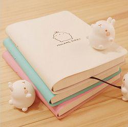 2018 Mignon Kawaii Bande Dessinée Portable Molang Lapin Journal Journal Planificateur Bloc-Notes pour les Enfants Cadeau Papeterie Coréenne Trois Couvre