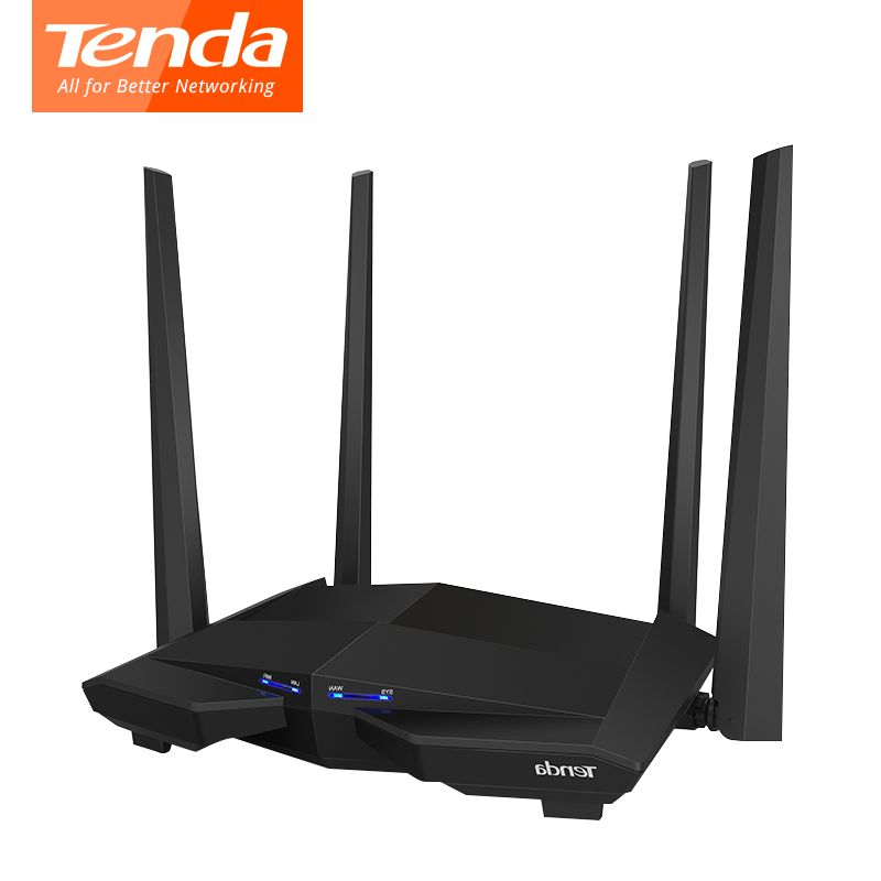 Tenda AC10 1200 Mbps wireless wifi router Dual band 2,4G/5G 1WAN + 3 LAN Gigabit port 802.11AC 4 * 5dbi 1 GHz CPU 128 DDR3