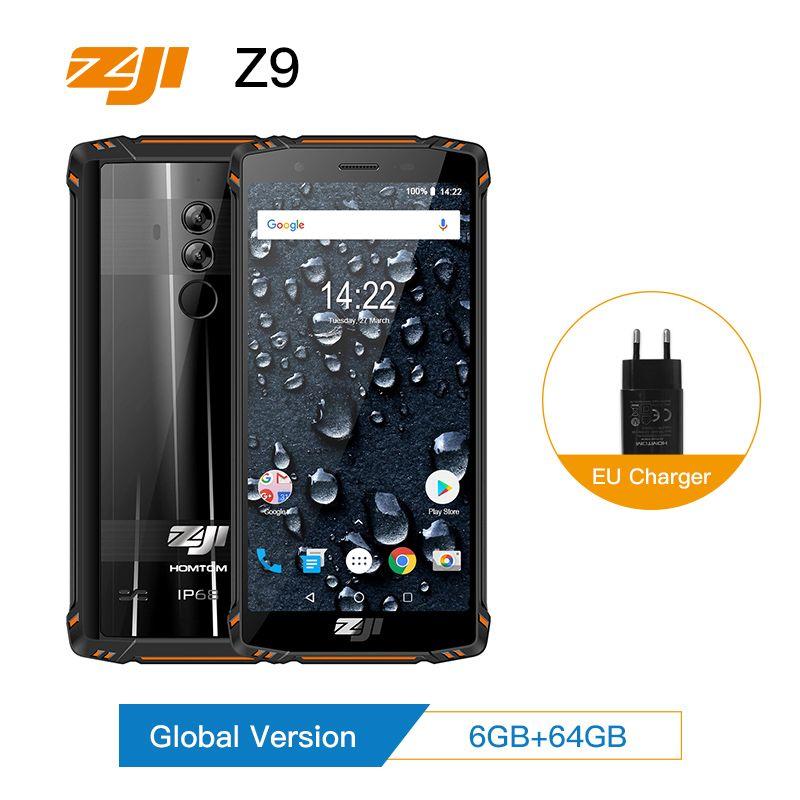 ZJI ZOJI Z9 IP68 Waterproof Smartphone Octa Core 5.7 inch 6GB RAM 64GB ROM 5500mAh B20 4G FDD LTE B20 Full Bands Mobile Phone