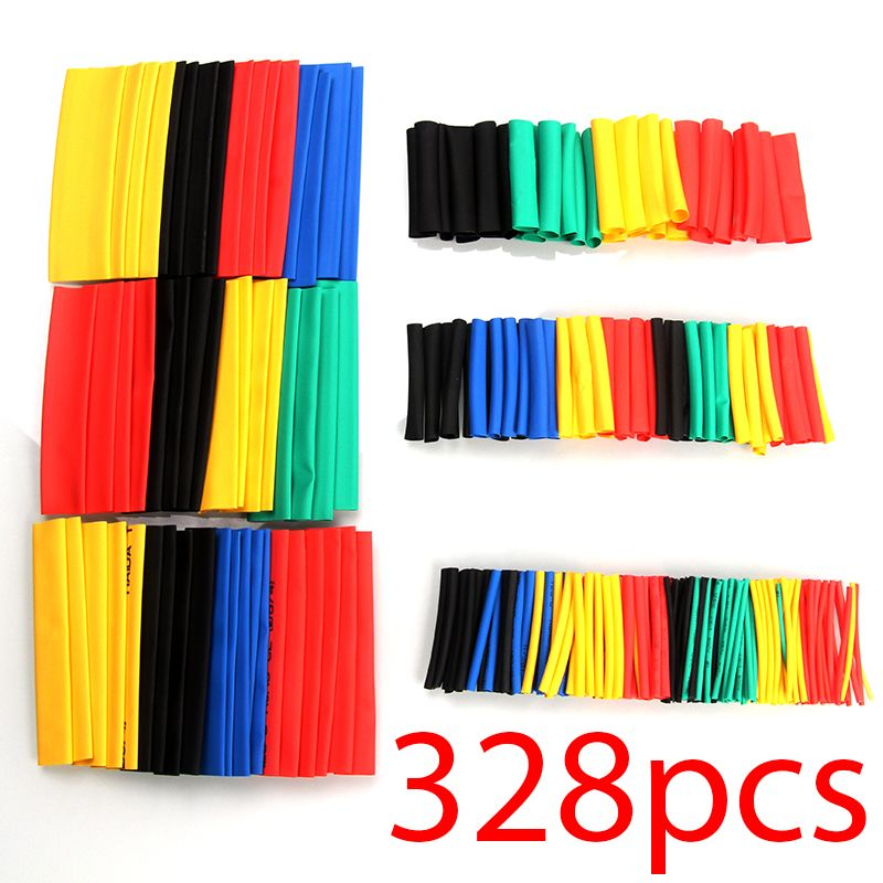 328pcs/set Heat Shrink Tubing Insulation Shrinkable Tube Assortment Electronic For Car motorcycle circuit