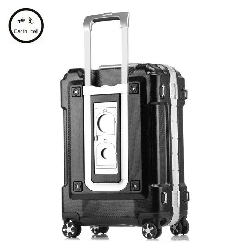 20 24 28 zoll größere kapazität ABS PC Aluminiumrahmen Gepäcktasche Kommerziellen Internat fall Trolley Reise-koffer Kennwort-feld