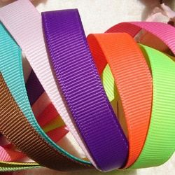 10yards ( 9meters ) Pick Size 6mm 9mm 15mm 19mm 25mm 38mm 50mm Width 100% Polyester Solid Color Plain Grosgrain Ribbons