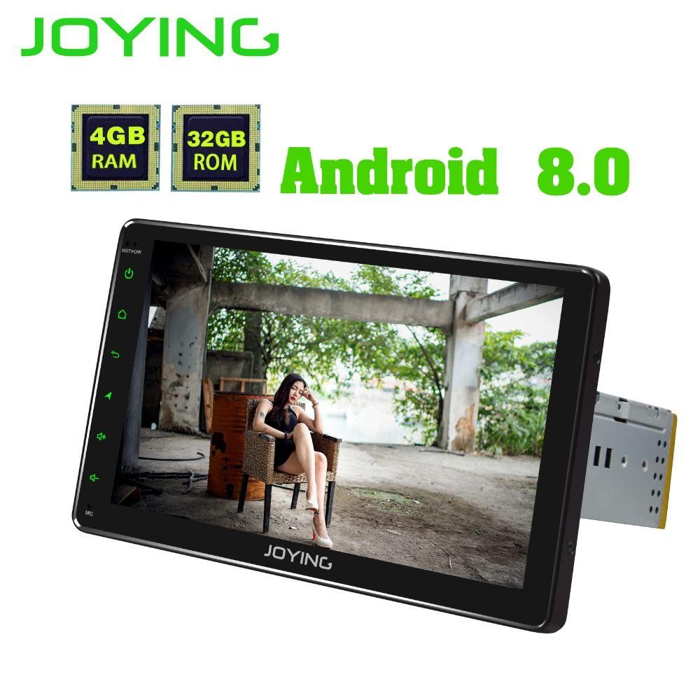 JOYING 9'' single din Car Radio 4GB RAM Android 8.0 Octa Core Universal head unit stereo support Carplay video output Fast boot