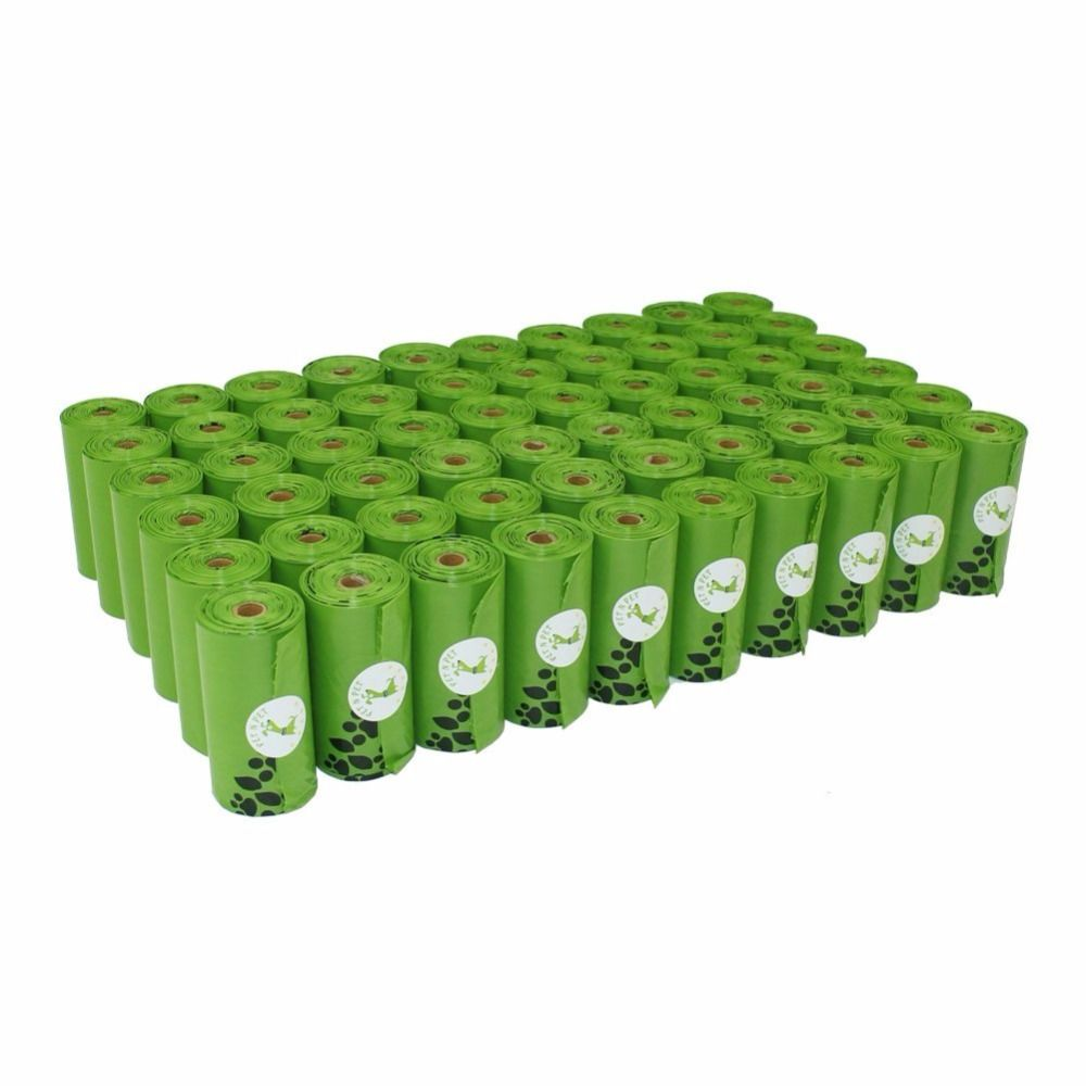 Sacs de merde de chien respectueux de la terre 10/12 Micron 56/60 rouleaux grand chat déchets sacs sac pour chien vert noir Orange rose couleur sacs à ordures