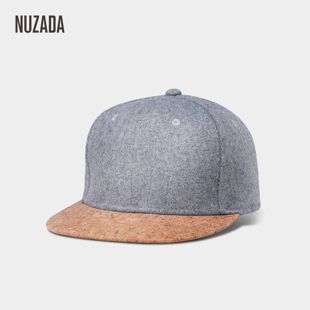 Marques NUZADA 2017 Automne Liège De Mode Simple Hommes Femmes Chapeau Chapeaux Casquette de baseball Hip Hop Snapback Simple Classique Caps Hiver