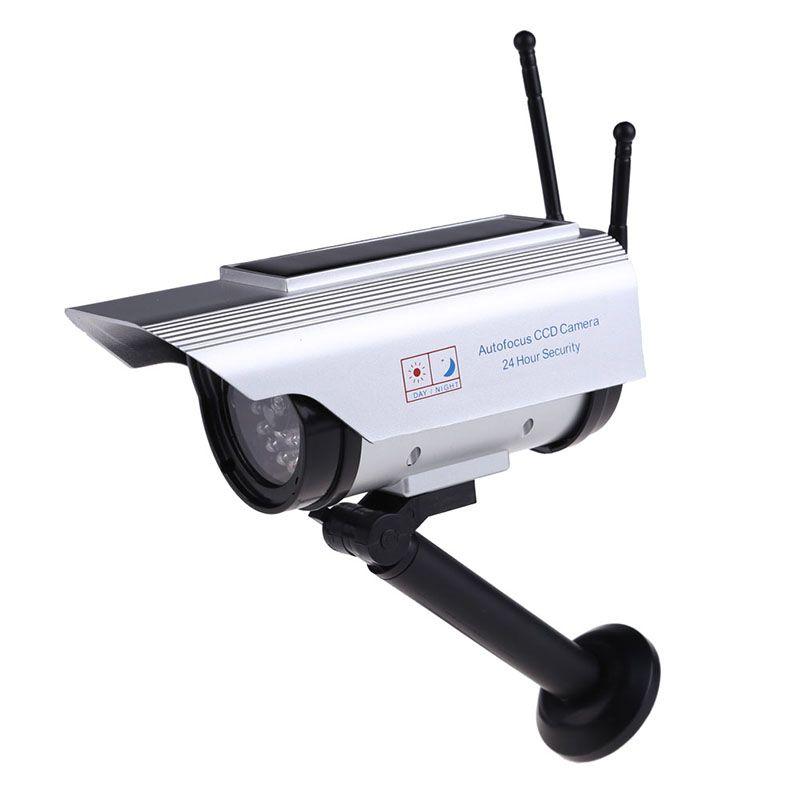 Top vente énergie solaire fausse IP surveillance caméra factice extérieur sécurité maison CCTV Mini caméra clignotant lumière LED