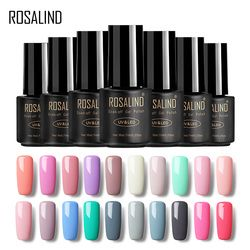 ROSALIND Gel 1 Nail Art Gel 7 ML Pur Couleur 31-58 UV LED Gel Nail Polish Long-durable Macaron Soak off vernis gel laque