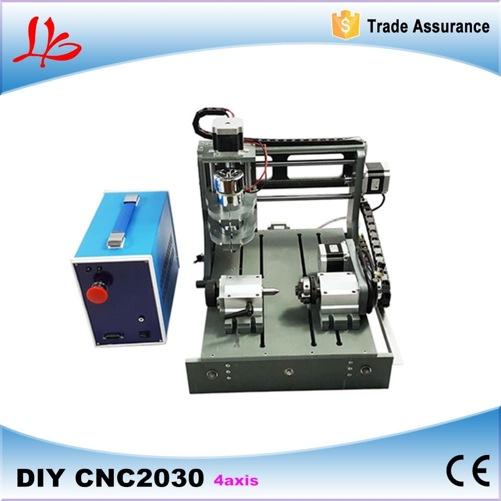 CNC 2030 CNC Holz Router Stecher 4 achsen Mini Cnc-fräsmaschine mit Parallel Port & USB port 2 in 1 Cnc-steuerung Box