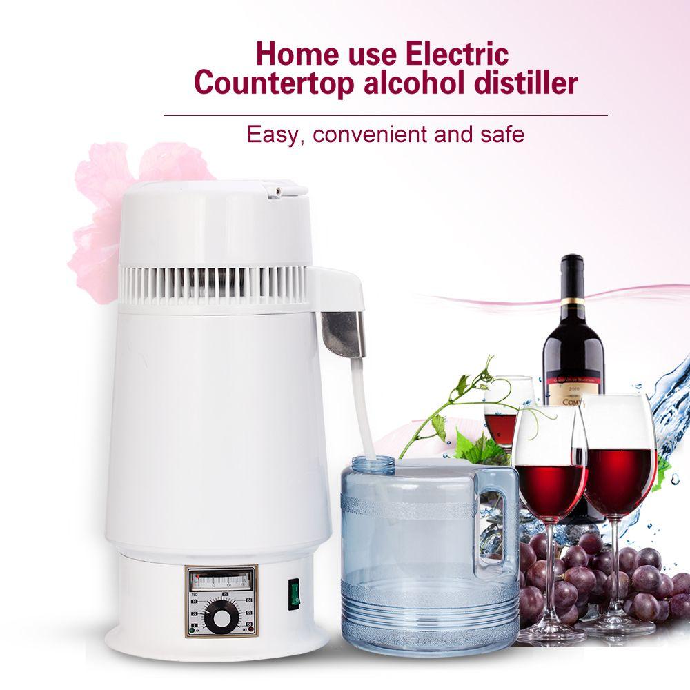 4L Dental Moonshine Home Reines Wasser Alkohol Distiller Filter Maschine Destillation Purifier Ausrüstung Kessel Brauen Flasche Jar