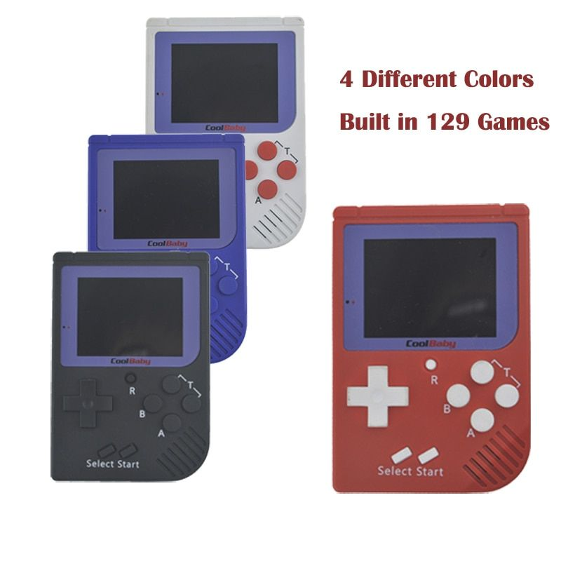 Mini CoolBaby Handheld Game Player Built-in 129 Classic Video Game Console Gift For Children