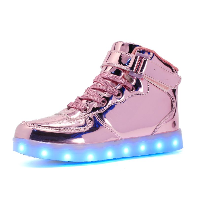 Warm like home 2017 New 25-39 USB Charger Glowing Sneakers Led Children Lighting Shoes Boys Girls illuminated Luminous Sneaker
