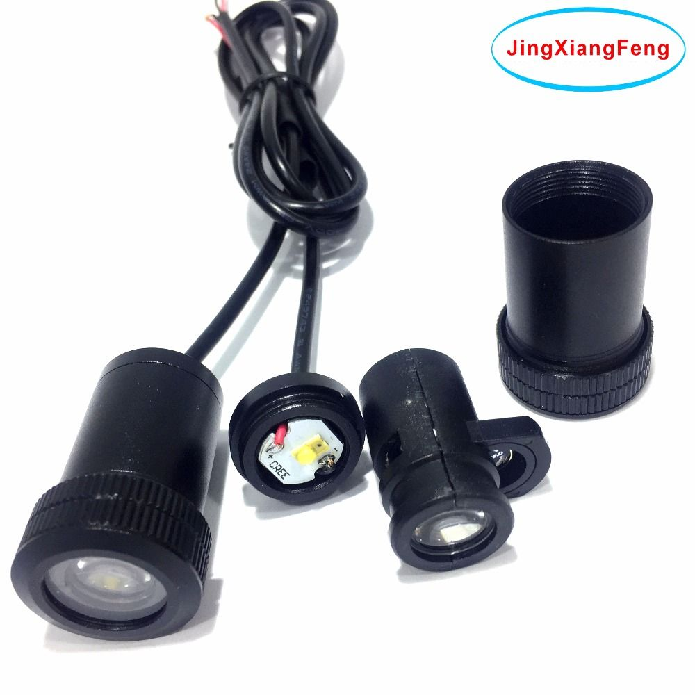JingXiangFeng 2pcs Led car Logo emblem lighting Welcome Light Door Projector Laser Ghost Shadow Lamp for nissan for