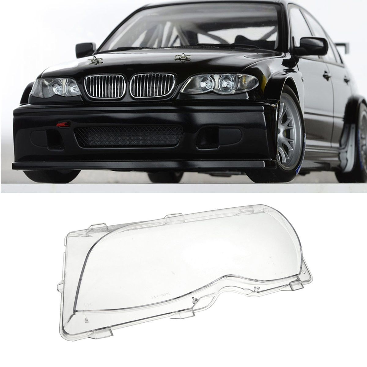 1Pcs Left/Right Driver Side Headlight Lens Plastic Shell Cover For BMW E46 3-Series 4DR 2001 2002 2003 2004 2005 63126924045