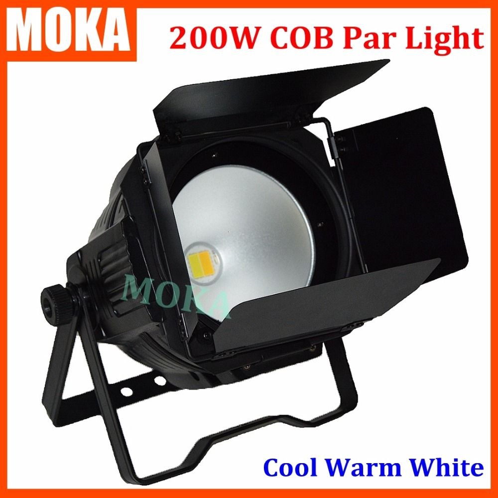 1 teile/los 200 watt COB LED par licht mit shutter Warmweiß Oder kühlen Weißen LED PAR bühnenbeleuchtung für Theater TV Bühne Studio