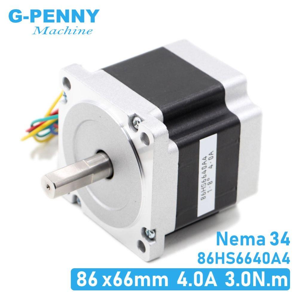 NEMA34 schrittmotor 86X66mm 3N. m 4A D14mm stepping motor 428Oz-in Nema 34 für CNC gravur maschine und 3D drucker!