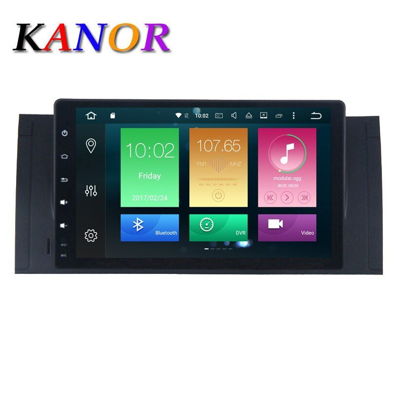 KANOR Android 8.0 9 Inch In Dash Car Radio Player Multimedia For BMW/E39/X5/M5/E53 With 2G RAM Canbus Wifi GPS Navigation Radio