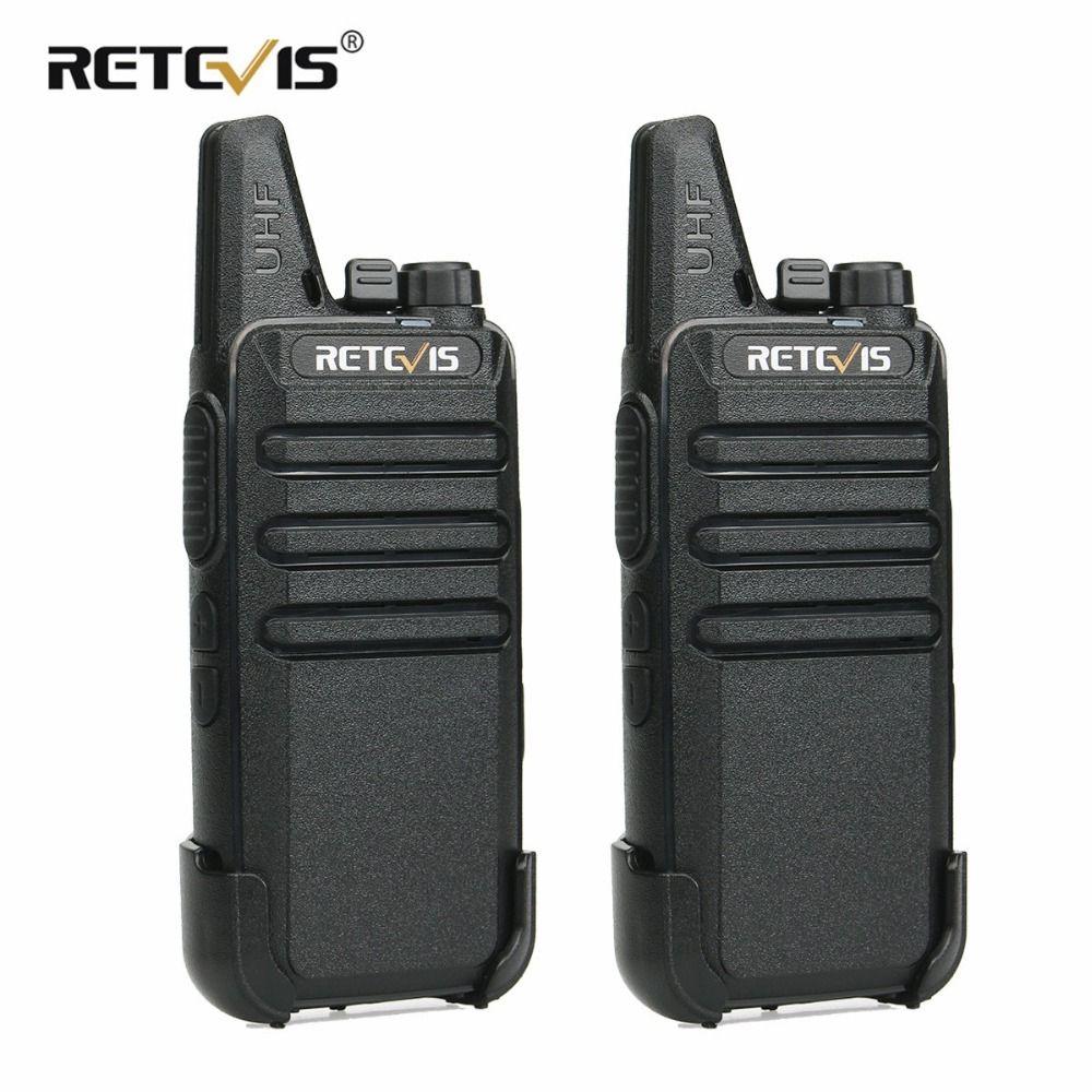 2 pcs Retevis RT22 Walkie <font><b>Talkie</b></font> Mini Transceiver UHF 2W VOX CTCSS/DCS USB Charging Handy Two Way Radio Communicator Woki Toki
