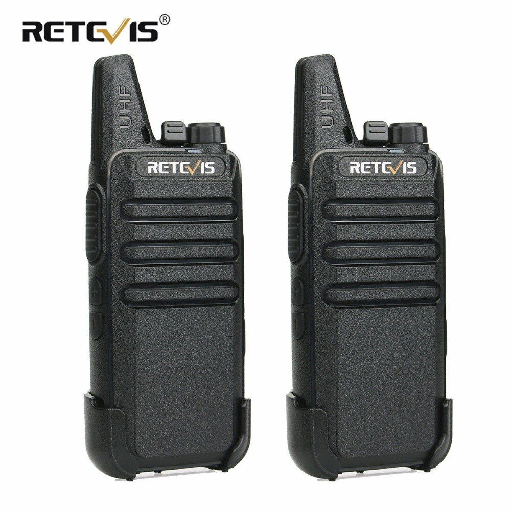2 pcs Retevis RT22 Walkie Talkie Mini Transceiver UHF 2W VOX CTCSS/DCS USB Charging Handy Two Way Radio Communicator Woki Toki