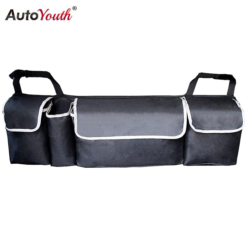 Car Trunk Organizer Adjustable Backseat Storage Bag High Capacity Multi-use Oxford Car Seat Back Organizers Interior Accessories