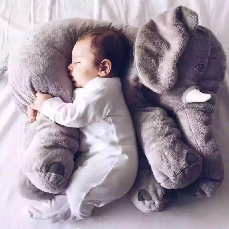 Cartoon 60cm Large Plush Elephant Toy Kids Sleeping Back Cushion stuffed <font><b>Pillow</b></font> Elephant Doll Baby Doll Birthday Gift for Kids