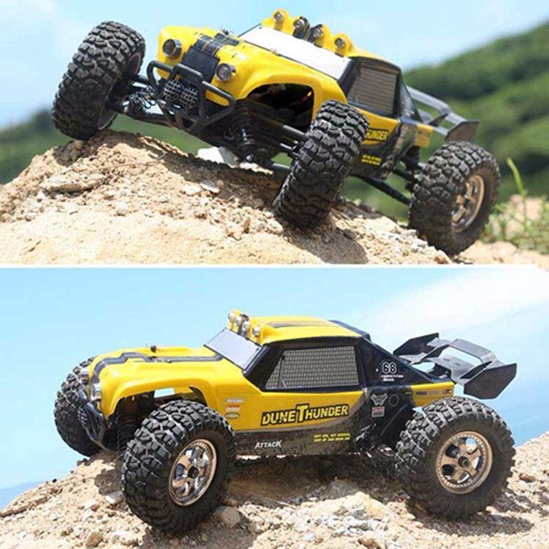 HBX 12891 1/12 4WD 2.4G Étanche Hydraulique Amortisseur RC Désert Buggy Camion avec LED Lumière