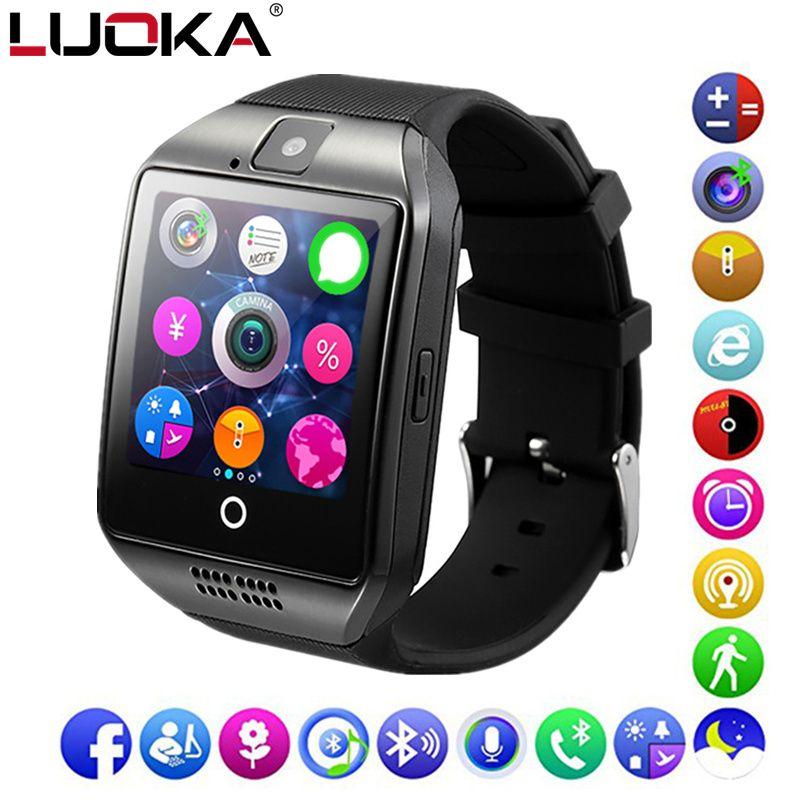 LUOKA Bluetooth Montre Smart Watch Q18 Soutien Sim TF Carte Téléphone Appel Push Message Caméra Bluetooth Connectivité Pour IOS Android Téléphone