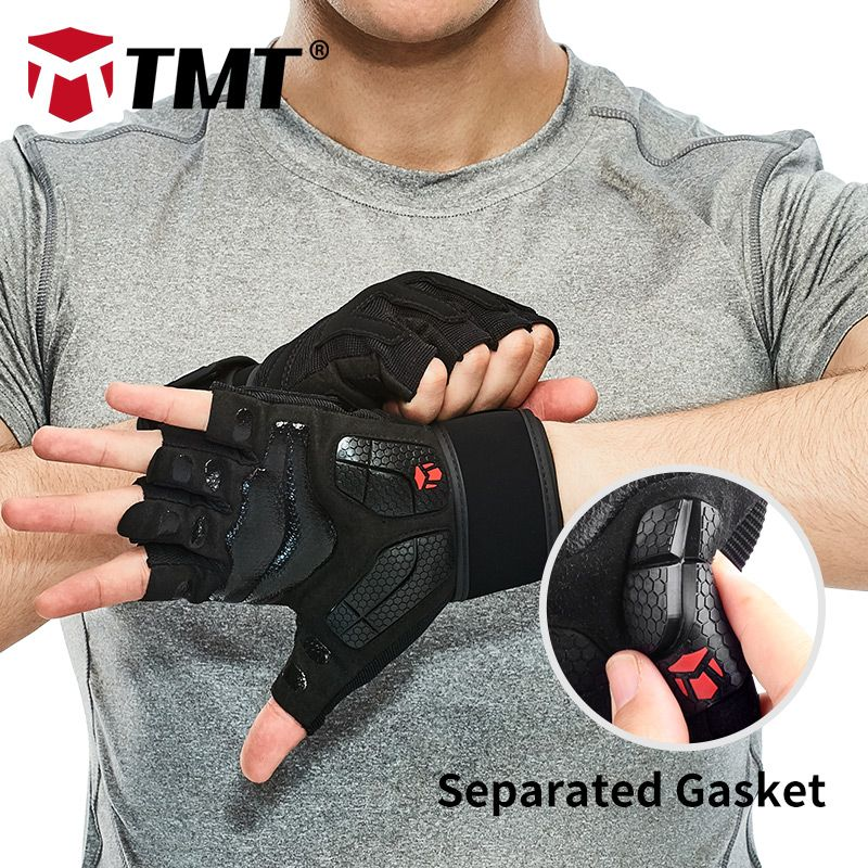 TMT gloves gym crossfit dumbbell sports weight lifting gloves weights for fitness mesh Breathable Separated Antislip Gasket