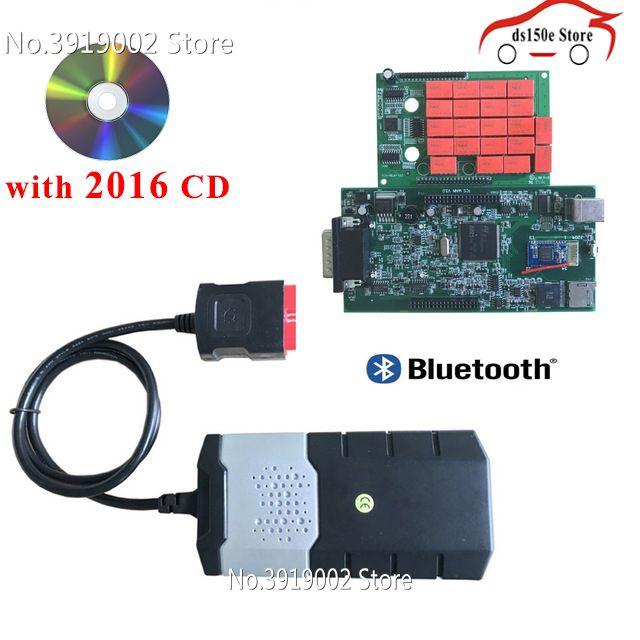10 teile/los großhandel obdii obd2 Adapter tcs cdp pro Autos Diagnose Interface Tool Neue VCI VD ds150e CDP für delphis für autocoms