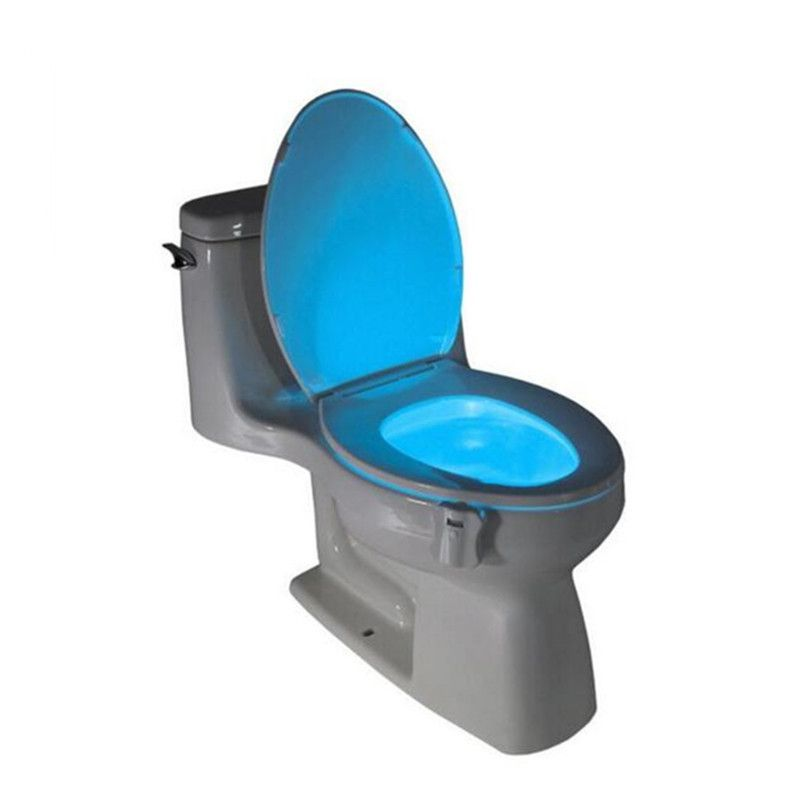 8 Colors LED Toilet Night Light Motion Activated Toilet Wireless Nightlight Sensitive 3A Battery-operated Lamp lamparas Lamps