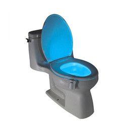 8 Couleurs LED Toilette Nuit Lumière Activé Par le Mouvement Sans Fil Veilleuse Sensible 3A Batterie-exploité Lampe lamparas Lampes