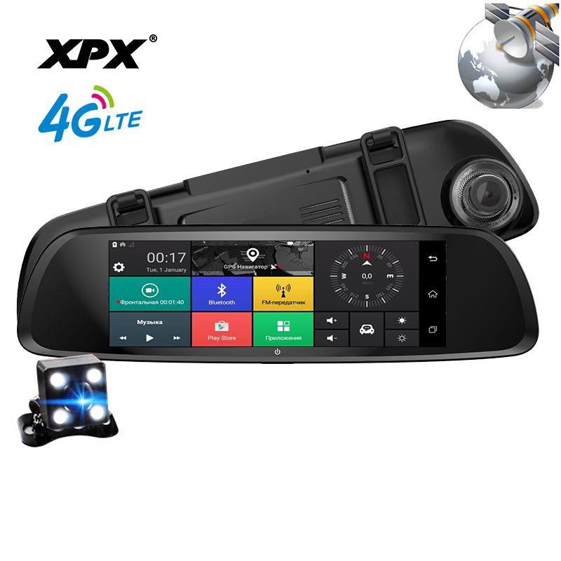 Dash cam XPX ZX868 Car dvr 3 in 1 Radar GPS Dvr Rear view camera Car DVR mirror Camera car Full HD 1080P G-srnsor Car camera