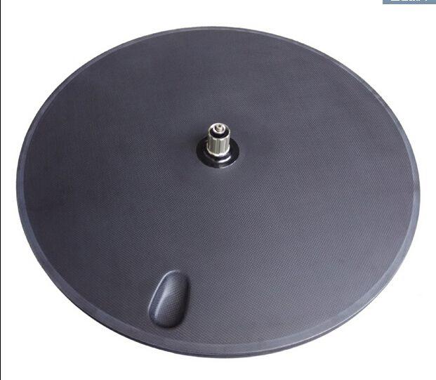 free shipping Carbon fiber wheel, road disc wheel, bicycle Cycling Track wheel, 700C disc wheel 3K matte clincher tubular rims