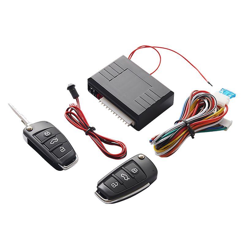 Système universel automatique d'entée sans clé de voiture bouton de démarrage et arrêt Kit de porte-clés LED verrouillage central des portières avec télécommande