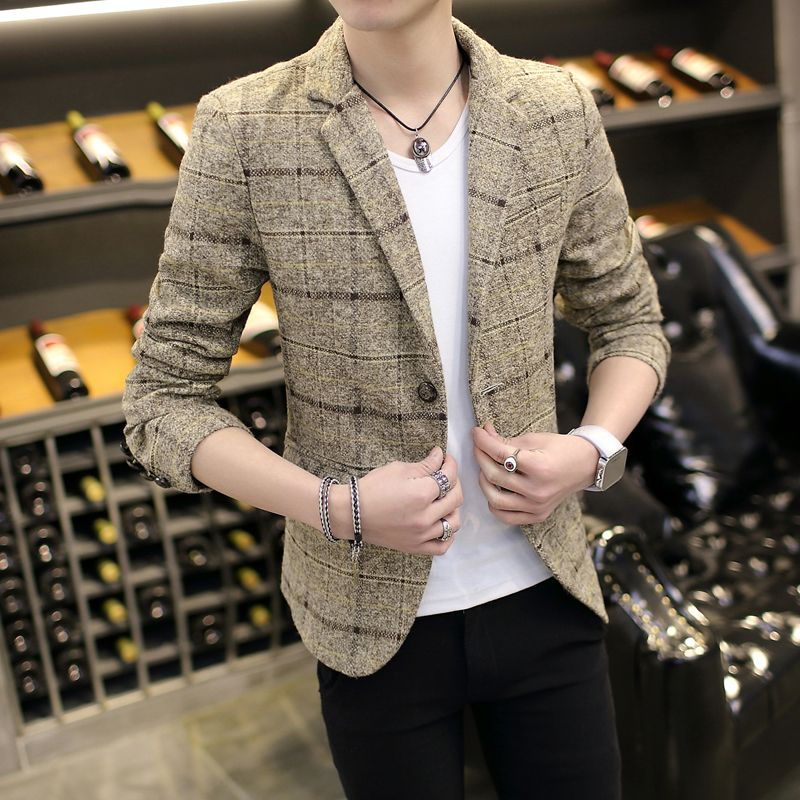 Новый Повседневное Блейзер Для мужчин модные костюмы мужской кнопка пальто костюм Для мужчин casul куртка Большие размеры M-3XL Бесплатная дост...