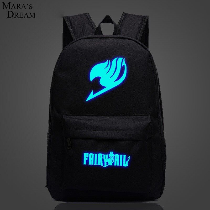 Mara's Dream Fairy <font><b>Tail</b></font> Backpack Japan Anime Printing School Bag for Teenagers Cartoon Travel Bag Canvas Fashion Mochila Galaxia