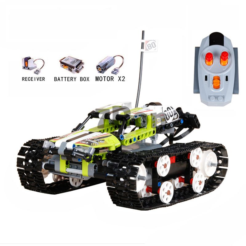 20033 397Pcs Technic The RC Track Remote-control Racer Building Block children's toy birthday gift compatible with lego 42065