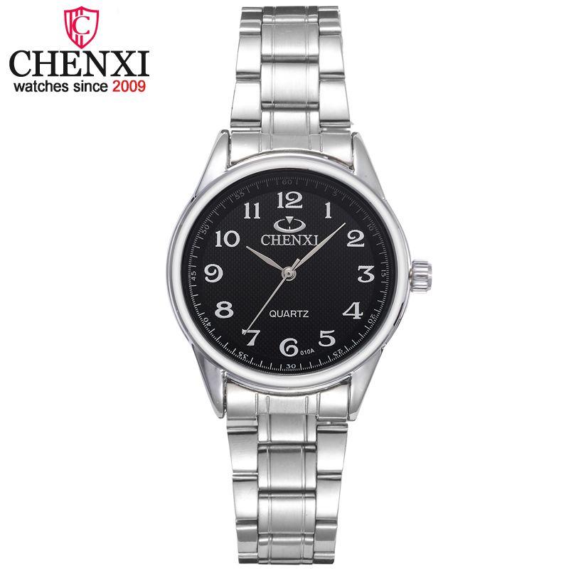 Chenxi marca de lujo clásico cuarzo de las señoras relojes moda noble regalo reloj mujeres reloj acero inoxidable reloj femenino