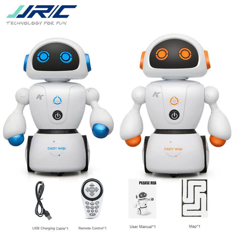 JJRC R6 CADY WIGI Line Following Maze Solving Intelligent Programming RC Dancing Robot Blue Orange For Kids Birthday Gifts VS R2