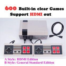 5 Stlyes Mini clásico TV juego 8 bits HDMI Out Retro Video Game Console built-in 600/500 juegos de mano jugador del juego